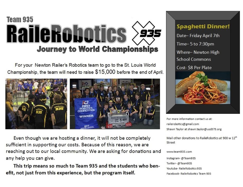RailerRobotics Dinner Flyer