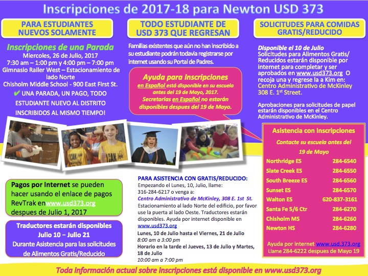Enrollment 2017-18 Spanish Flyer