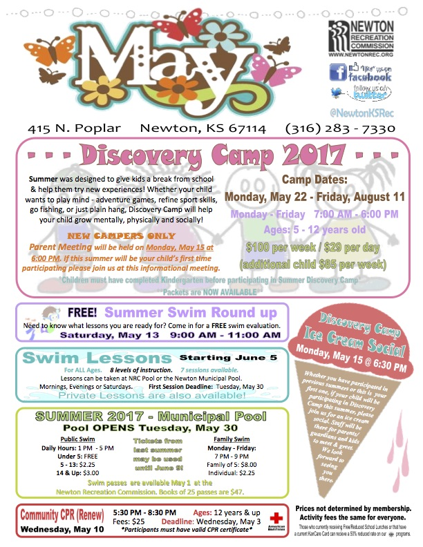 May 2017 Newton Rec Newsletter