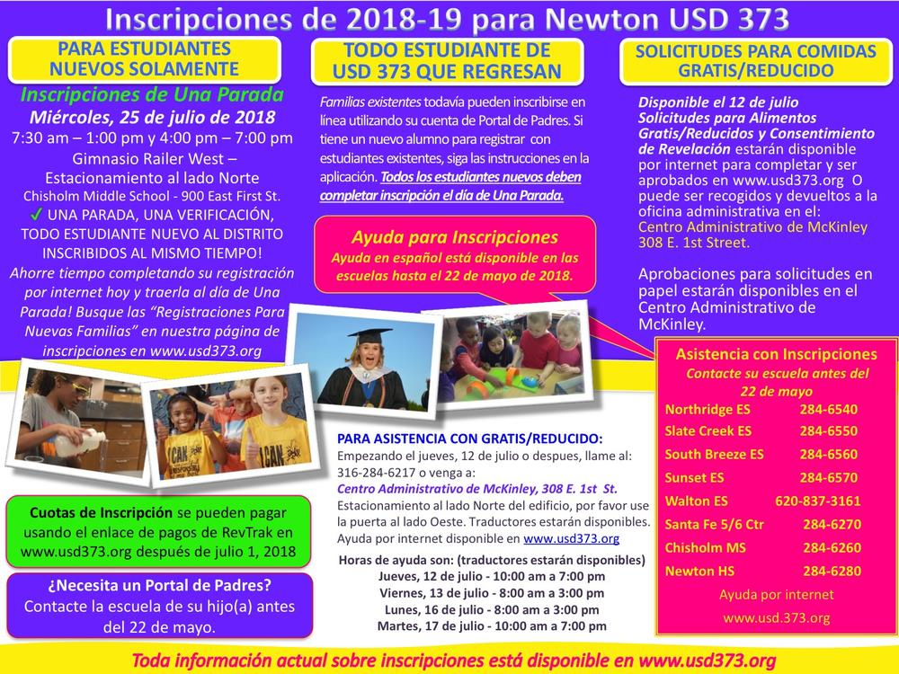 Enrollment Flyer - Spanish