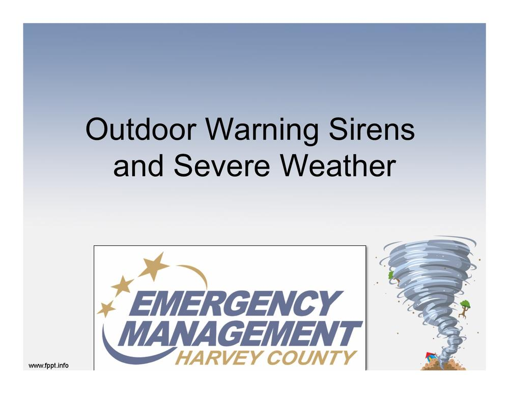 Outdoor Warning Sirens and Severe Weather