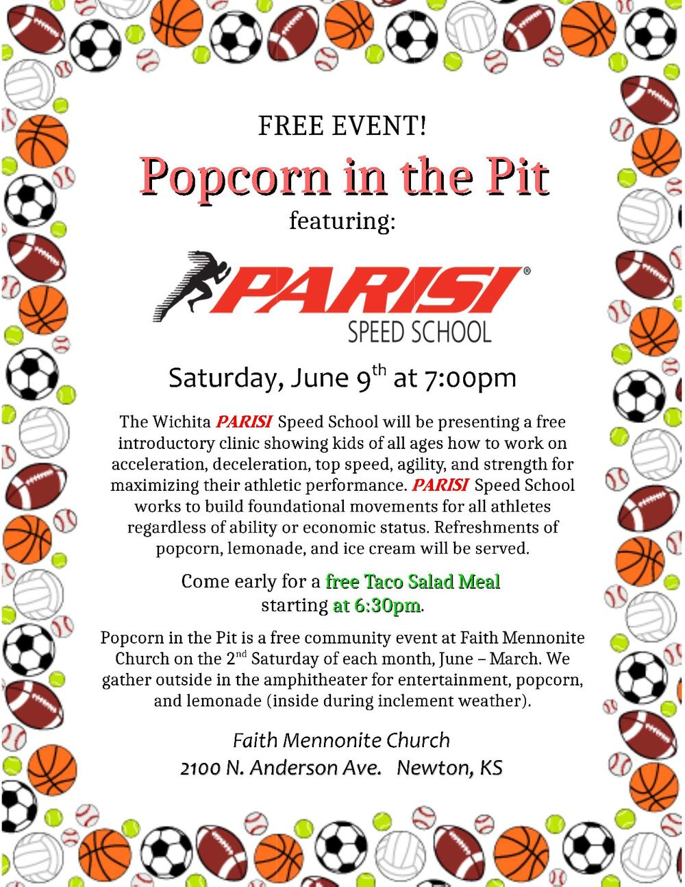 Popcorn in the Pit flyer