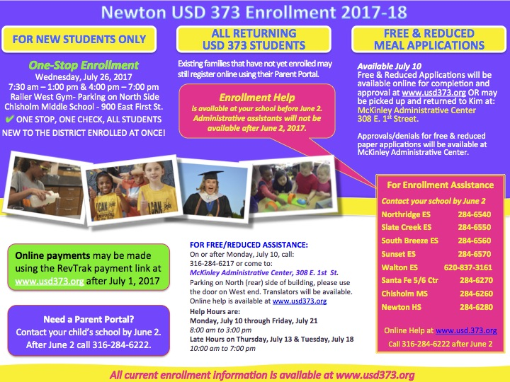 Enrollment 2017-18 English Flyer