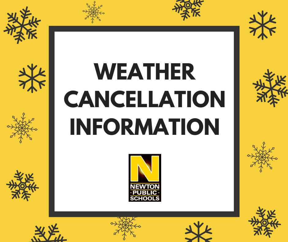 Weather cancellation info