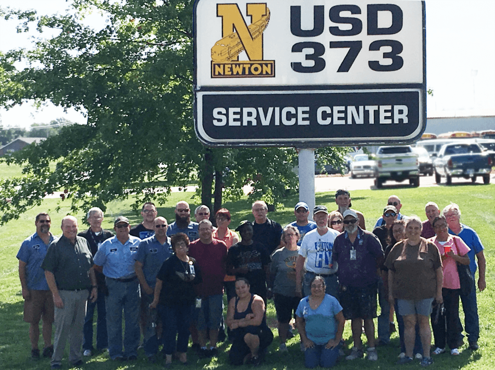 maintenance staff group photo
