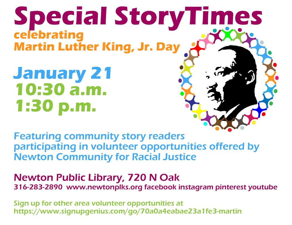 Martin Luther King Jr Day StoryTimes Flyer