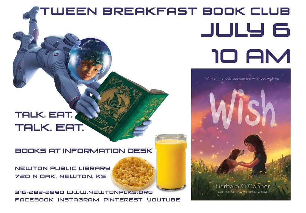 Tween Breakfast Book Club July 5