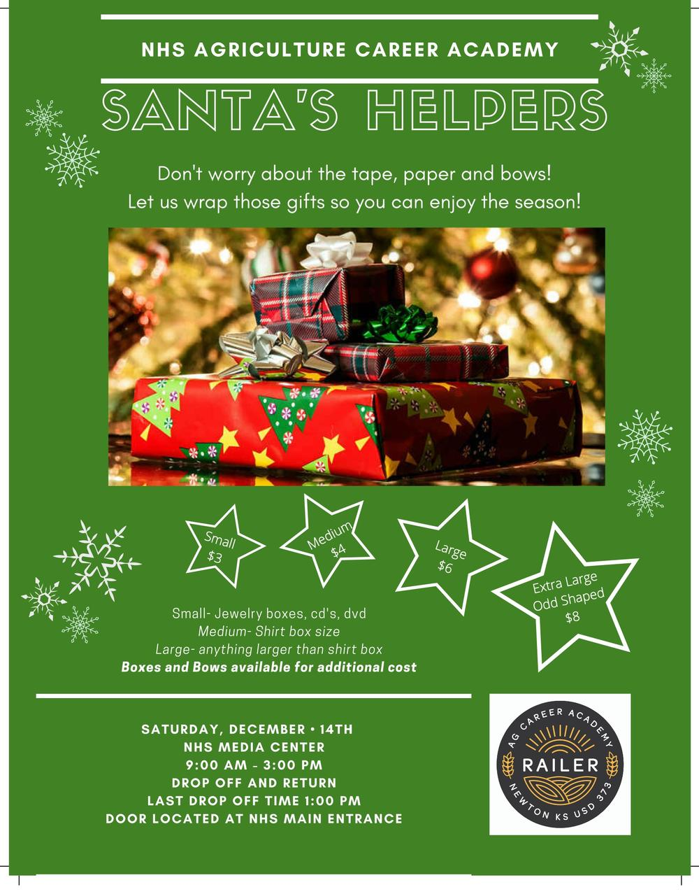 Santa s Helper Gift Wrapping Fundraiser
