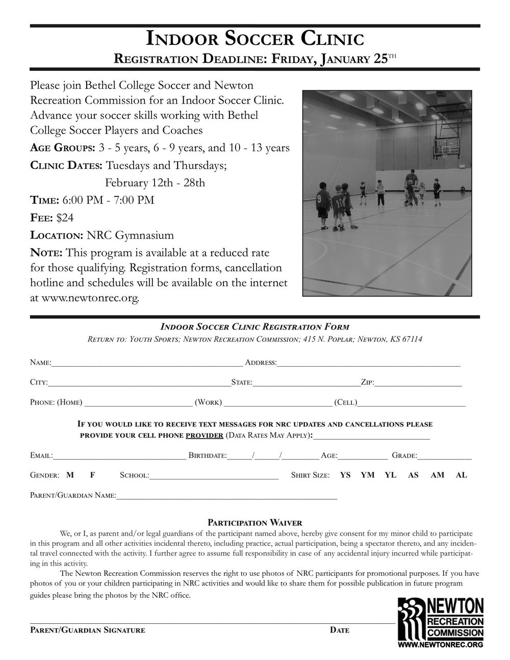 Indoor Soccer Clinic