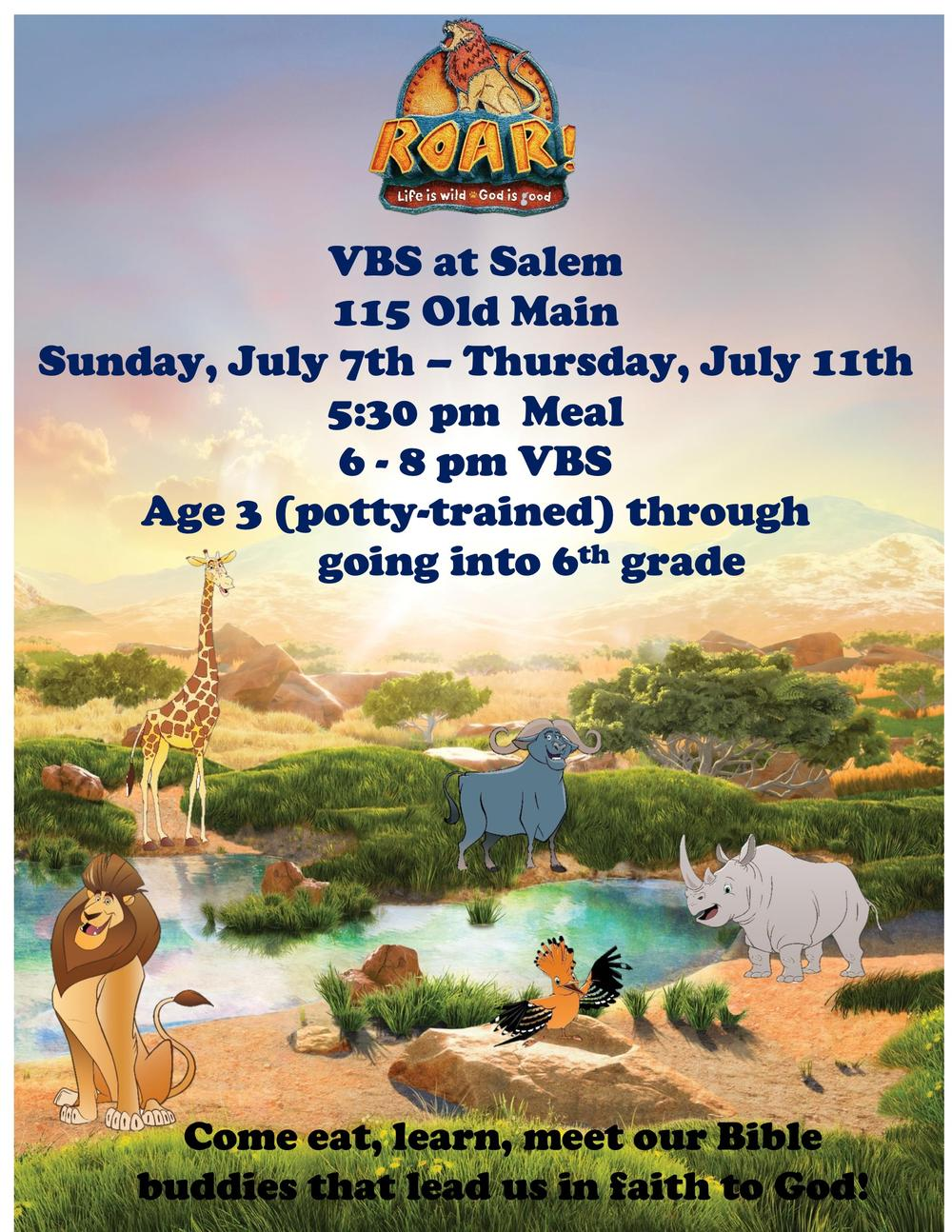 Salem VBS Flyer